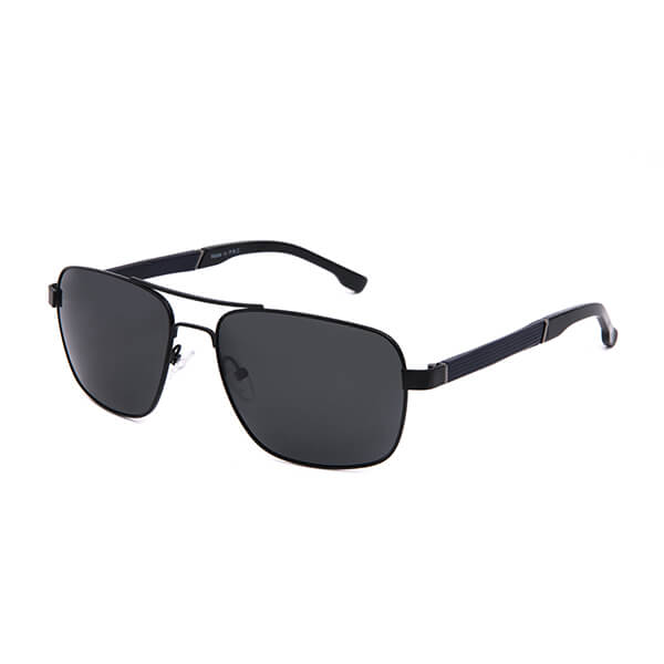 Stainless Steel Polarized Sunglasses with Double Bridge Mens Classic Aviator 100% UV Protection