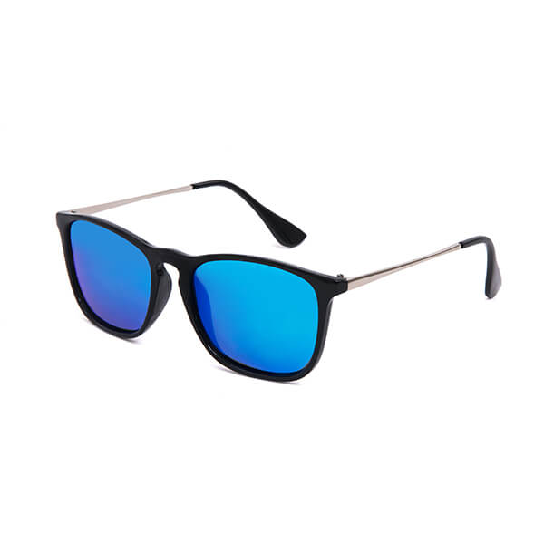 Unisex Plastic Frame Metal Leg Aviators Sunglasses with 100% UV Protection Polarized Lens