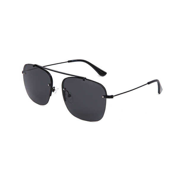 Fashion Polarized Metal Frame Modern Men Womens Aviation Style UV400 Square Sunglasses