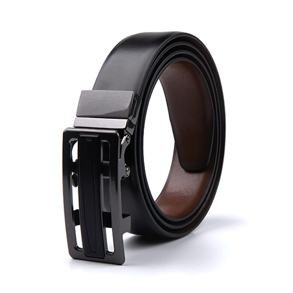 Dress Multicolor Reversible Ratchet Automatic Genuine Leather Belt Men