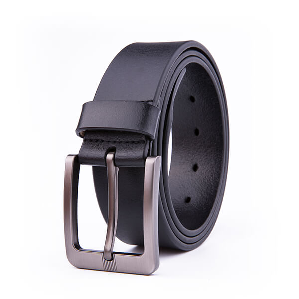 Wide Casual Dress Black Full Grain Genuine Leather Belt for Men