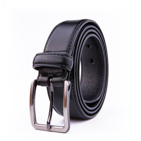 Adjustable Black Dress Genuine Leather Belt for Men