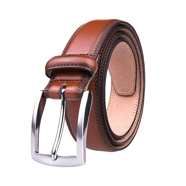 Formal Vintage Brown Mens Genuine Leather Belt