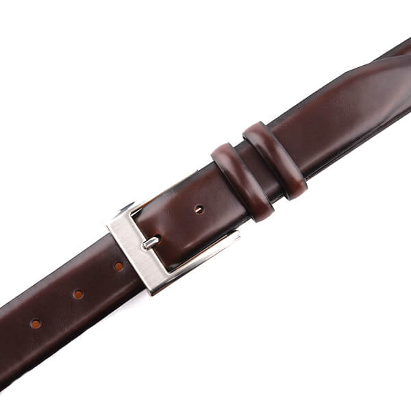 Vintage Classic Brown Genuine Leather Belt for Men