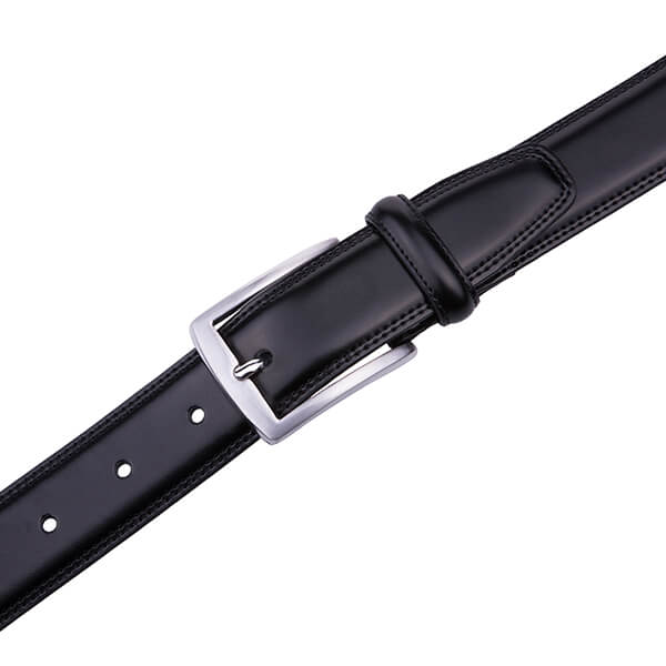 Dress Black Genuine Leather Belt Men
