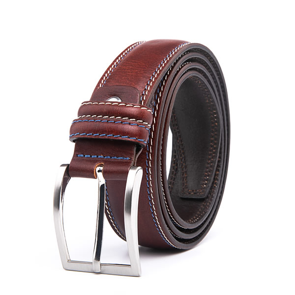 Casual Dress Black Full Grain Leather Mens Designer Belt
