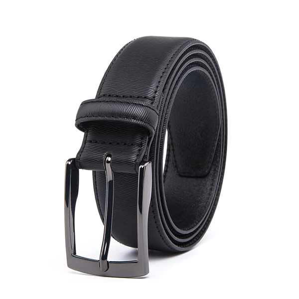 Black Dress Pure Genuine Leather Belt for Men