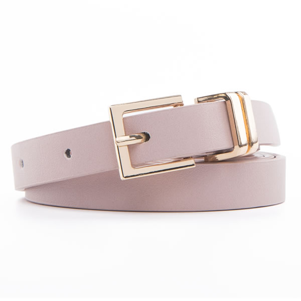 PU Leather Designer Pants Belts with Gold Metal Buckle for Women