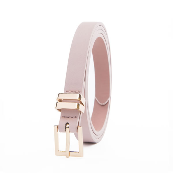 Lady Strap Wrap Fashion Belt with Pin Buckle Plus Two Metal Loops