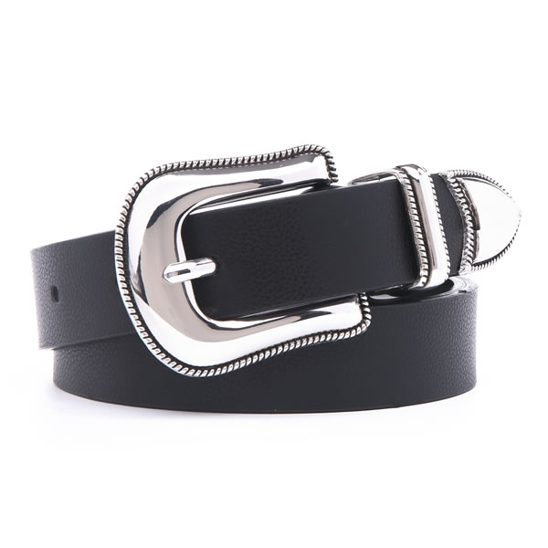 Cowgirl Western Women Belt with Retro Pin Buckle