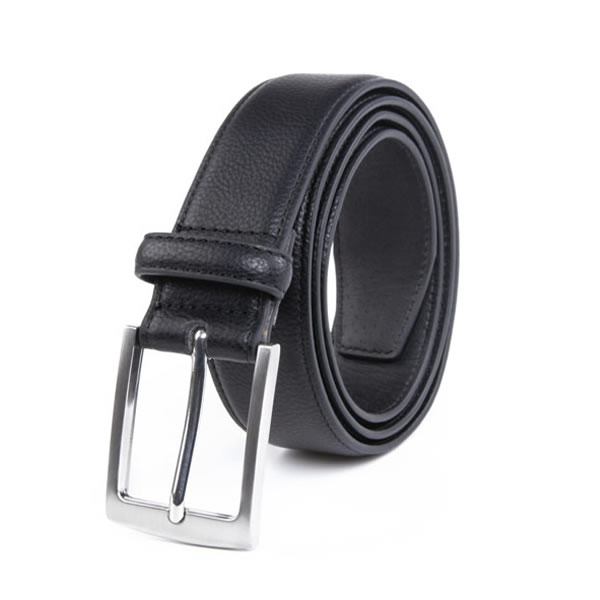 Dress Black PU Leather Belt Men