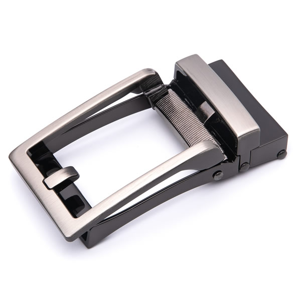 Adjustable Brushed Gunmetal Mens Belts Buckle