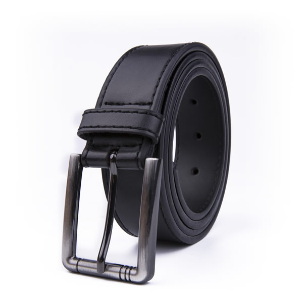 Official Dress Black Leather Belt Men