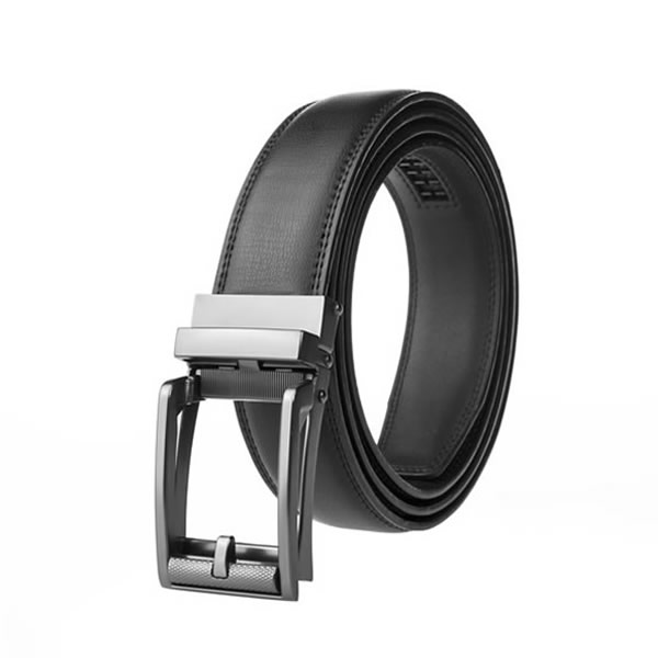 Dress Black Genuine Leather Belt Ratchet Belt