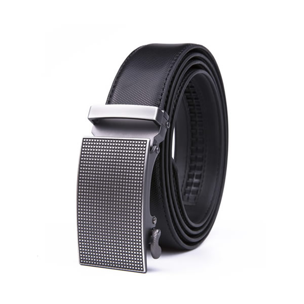 Dress Casual Clip Mens Genuine Leather Belt Automatic Black Belt