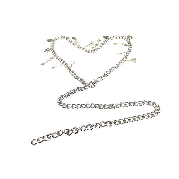 Ladies Silver Metal Adjustable Link Waist Chain Belts for Dresses