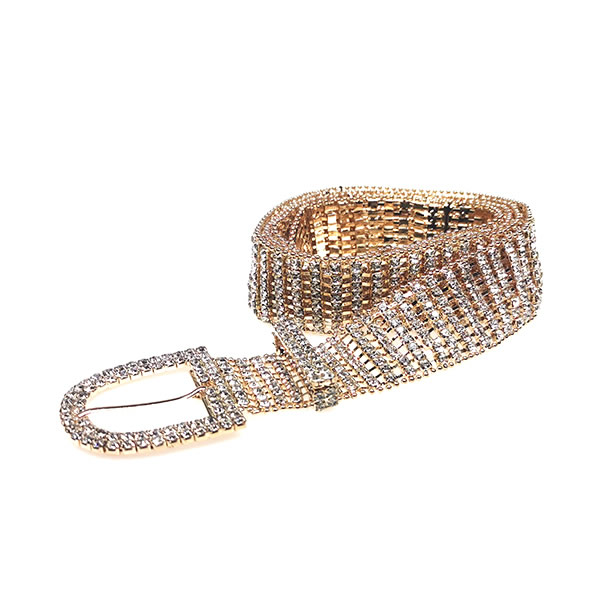 Sparkly Rhinestone  Gold Chain Belts for Women