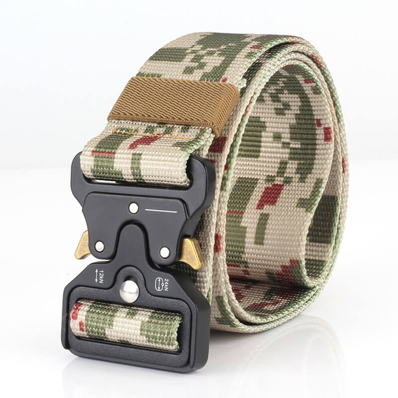 Nylon Men Outdoor Combat Military Camouflage Tactical Belt with Quick Release Buckle