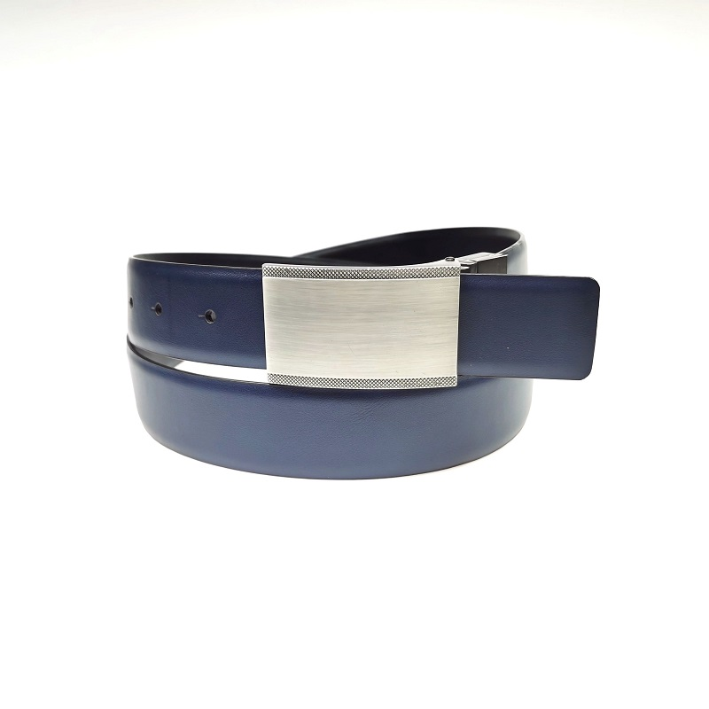 Double Side Mens PU Leather Belt with Plain Clip Reversible Buckle