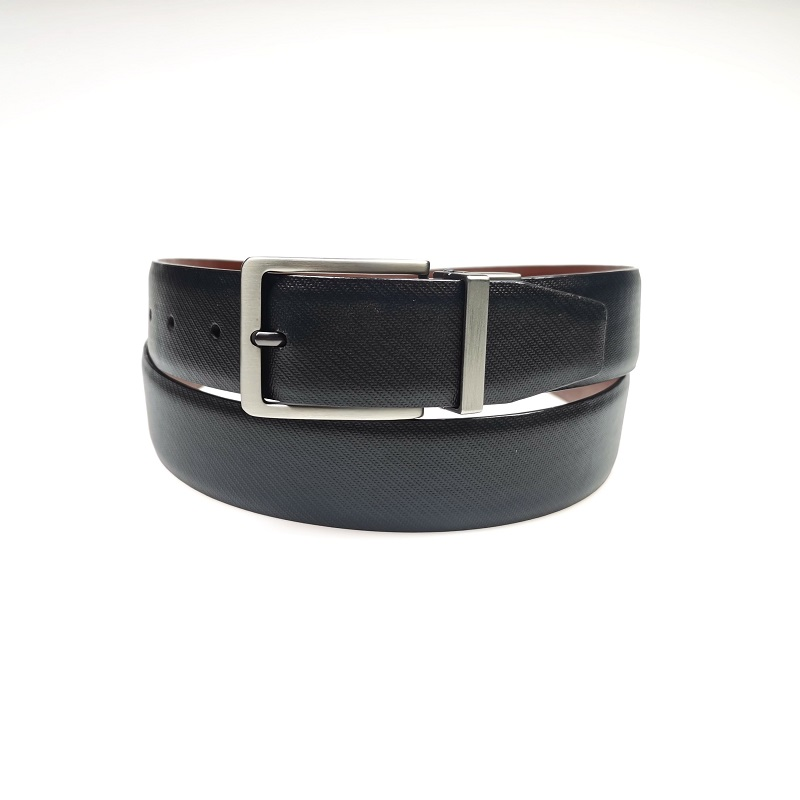 PU Leather Double Side Automatic Buckle Reversible Belts for Men