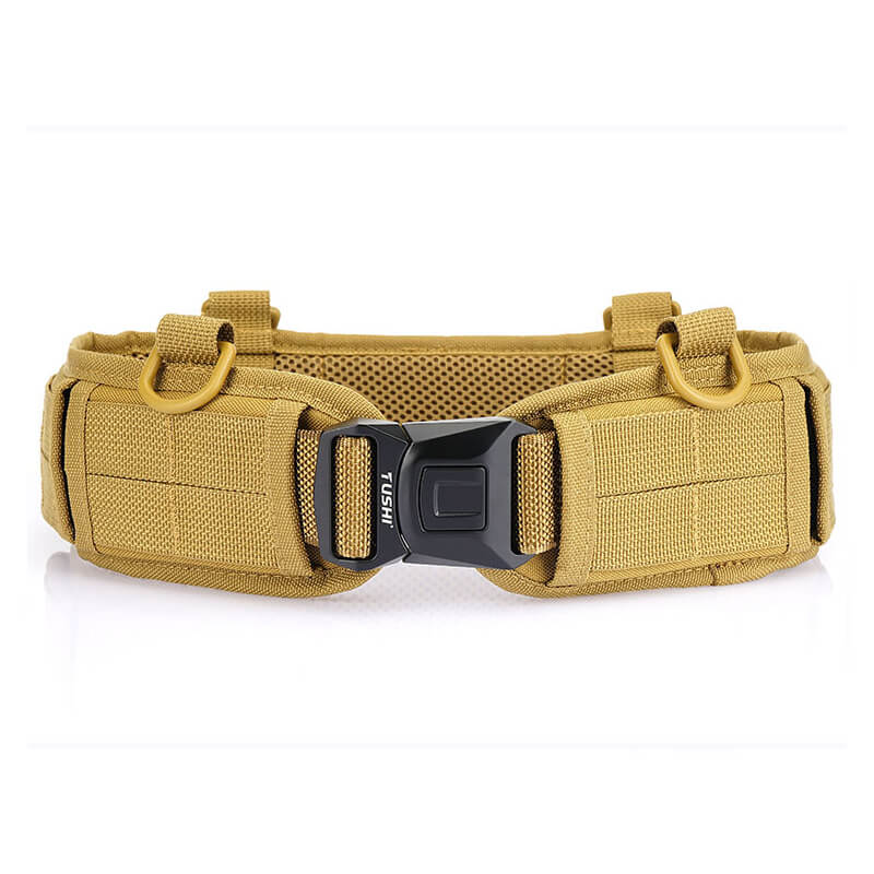 Unisex Adjustable Tactical Outdoor Fabric Solid Quick Release Belt